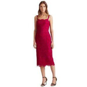 NEW Lauren Ralph Lauren Floral Lace Midi Dress